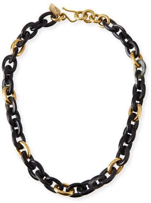 Ashley Pittman Meli Short Collar Necklace in Dark Horn