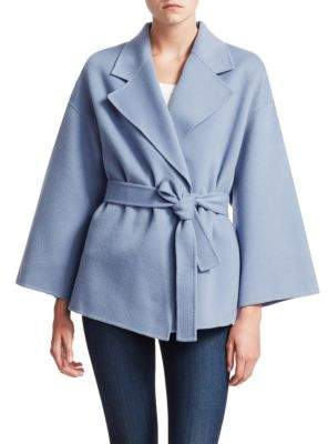Theory Wool& Cashmere Robe Jacket