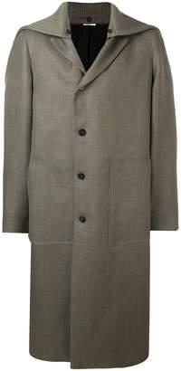 Jil Sander off-centre button coat