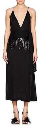 Victoria Beckham Women's Sequined Silk Chiffon Midi-Dress - Black
