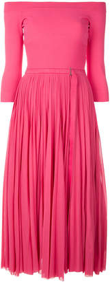 Alexander McQueen pleated midi dress