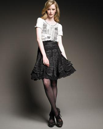 Oscar de la Renta Taffeta Skirt