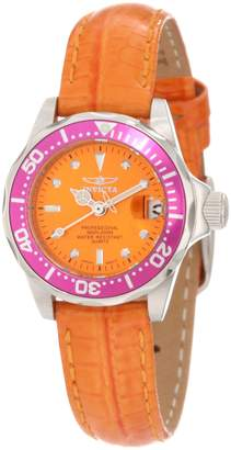 Invicta Women's 11446 Pro Diver Mini Dial Leather Watch
