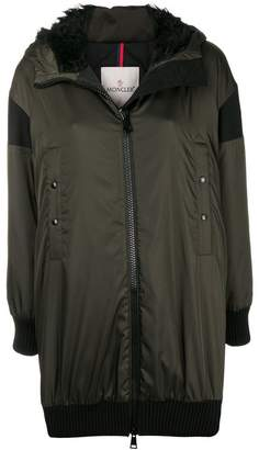 Moncler front zipped coat