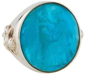 Tagliamonte Mother of Pearl & Venetian Intaglio Ring