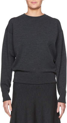 The Row Rudi Crewneck Long-Sleeve Pullover Knit Sweatshirt