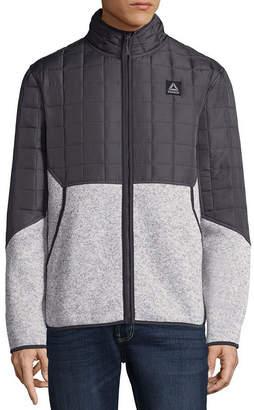 Reebok CANADA WEATHER GEAR Men's Quilted Sweater Fleece Jacket