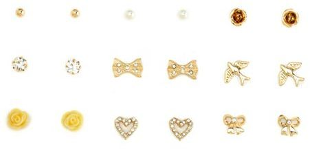 Charlotte Russe Birds & Bows Earring Set