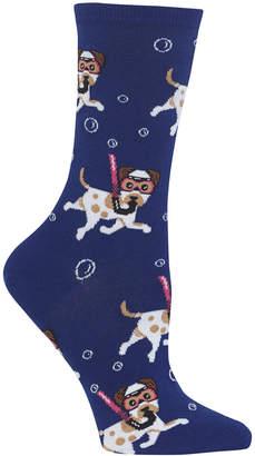 Hot Sox Women's Snorkeling Dogs Crew Socks