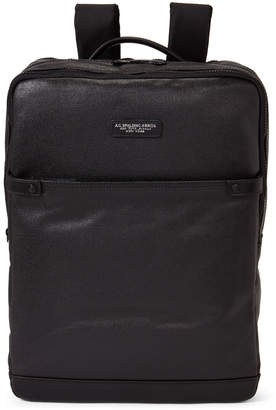 AG Jeans Spalding & Bros. Black Large Palm Line Backpack