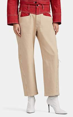 Colovos Women's High-Rise Straight Crop Jeans