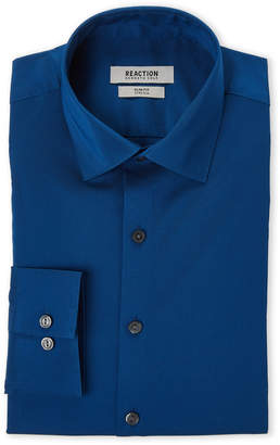 Kenneth Cole Reaction Hampton Blue Slim Fit Stretch Dress Shirt