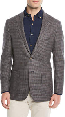 Peter Millar Men's Crown Soft Check Wool-Blend Blazer Jacket