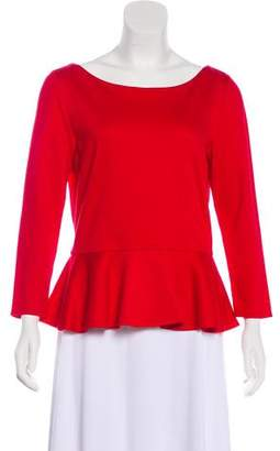 Alice + Olivia Long Sleeve Peplum Top