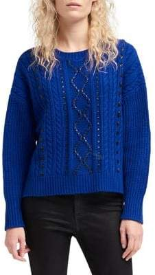 DKNY Cable-Knit Crewneck Sweater