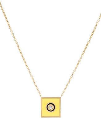 K Kane Code Flag Square Diamond Pendant Necklace - I
