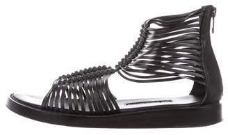 Ann Demeulemeester Vitello Lavato Flat Sandals w/ Tags