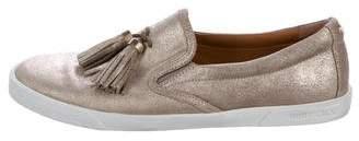 Jimmy Choo Metallic Dale Slip-On Sneakers