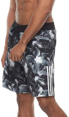 adidas Men's Hibiscus Floral Microfiber Volley Shorts