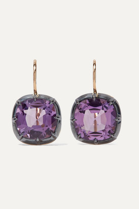 Fred Leighton Collection 18-karat Gold Amethyst Earrings