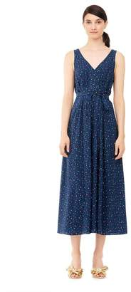 Rebecca Taylor Speckled Dot Silk Midi Dress
