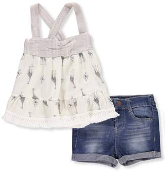 Jessica Simpson Baby Girls' 2-Piece Short Set Outfit