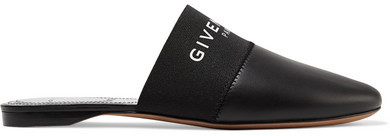 Givenchy - Bedford Logo-print Leather Slippers - Black