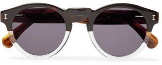 Illesteva Leonard Round-Frame Two-Tone Acetate Sunglasses - Men - Brown