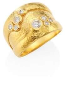 Gurhan Pointelle Diamond& 22-24K Yellow Gold Ring