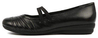 New Supersoft Janda Black Womens Shoes Comfort Shoes Flat