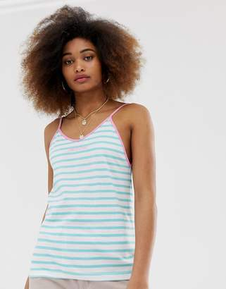 Santa Cruz Cami Tank Top In Summer Stripe