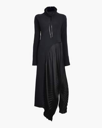 Victoria Beckham High Neck Pleated Circle Dress