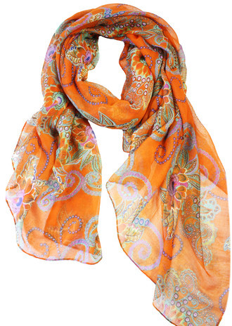 Happy Scarf Taj Floral Orange