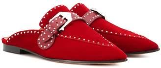 Givenchy Studded velvet slippers