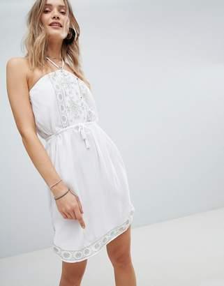 Accessorize Embroidered Bandeau Beach Dress