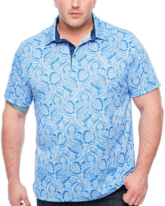 SOCIETY OF THREADS Society Of Threads Short Sleeve Paisley Pique Polo Shirt Big and Tall