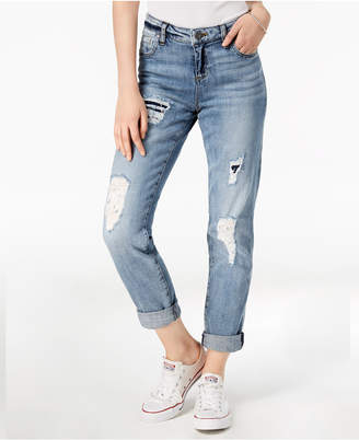 KUT from the Kloth Catherine Ripped Boyfriend Jeans