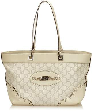 Gucci Vintage Guccissima Leather Punch Tote