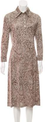 Diane von Furstenberg Collared Printed Dress