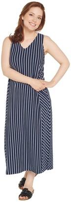 Anybody AnyBody Loungewear Petite V-Neck Cozy Knit Maxi Dress