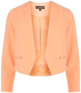 Dorothy Perkins Womens Apricot Rivet Detail Cropped Jacket