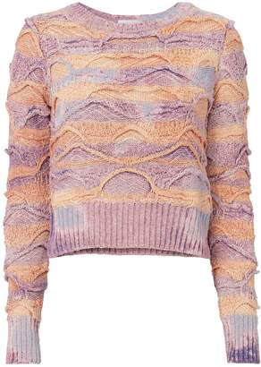 Faith Connexion Multi-Bleached Cropped Sweater