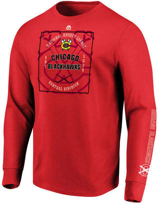 Majestic Men's Chicago Blackhawks Keep Score Long Sleeve T-Shirt