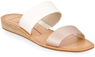 Dolce Vita Helene Snake-Print Slide Sandals