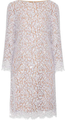 Michael Kors Collection - Crystal-embellished Cotton-blend Corded Lace Dress - White $4,850 thestylecure.com