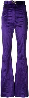 Nina Ricci high-rise velvet flared trousers