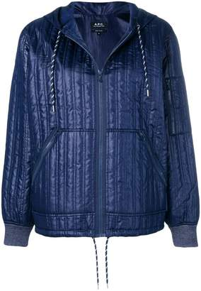 A.P.C. quilted zip bomber jacket