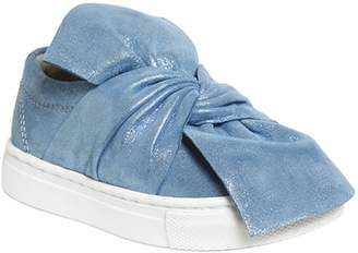 Glittered Suede Slip-On Sneakers