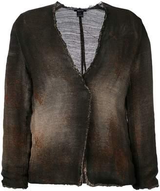 Avant Toi cross body overdyed knitted jacket