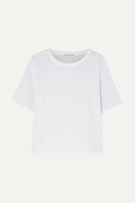 Alexander Wang Reversible Stretch-cotton Jersey T-shirt